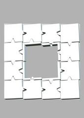 beyaz puzle çerçeve