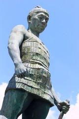 鞠智城温故創生之碑 防人の像