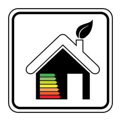 Logo maison énergie.