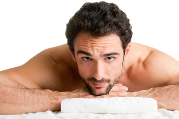 Man in a Spa