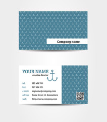 Marine double sided bussines card