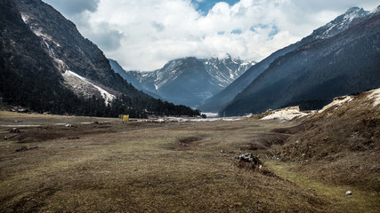 Yumthang Valley in Lachung, North Sikkim, India.