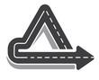 Looping triangular tarred highway