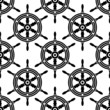 Seamless pattern of antique ships wheel