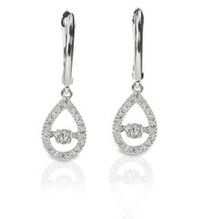 Diamond Drop Halo earrings