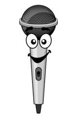 Smiling cartoon microphone