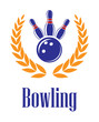 Bowling elements in laurel wreath