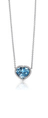 Blue Gemstone and Diamond Pendant Necklace