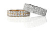 Cluster stack of diamond wedding engagment rings - 64302760