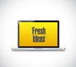 fresh ideas laptop computer message illustration