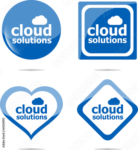 Cloud computing concept web icon isolated on white