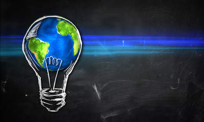 Earth Bulb dark Background