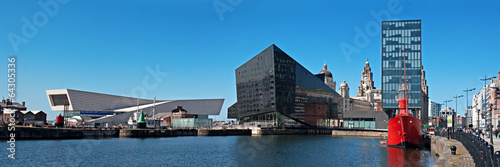 Panoramic View of Liverpool's historic waterfront Poster