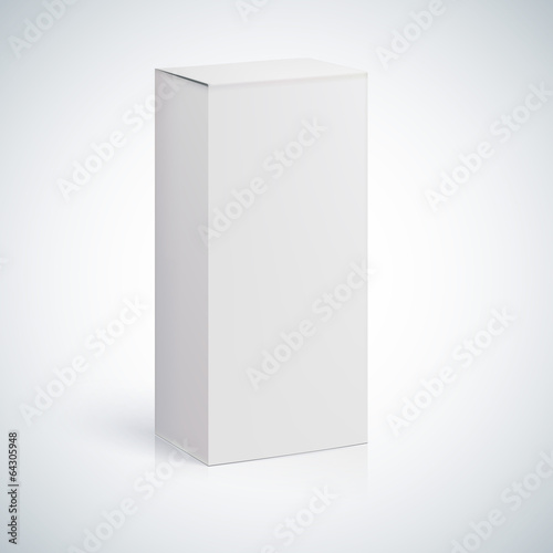 White blank box with empty space - 64305948