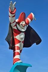 Karnevalsfigur Burlamacco in Viareggio