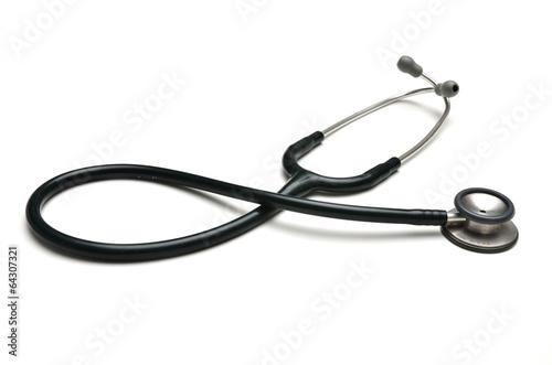 stethoscope on white background - 64307321