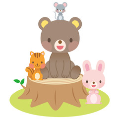 かわいい動物 イラスト