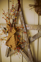 Rustic hand made christmas decoration