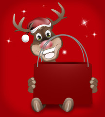 Rudolph Red Nose Happy Christmas