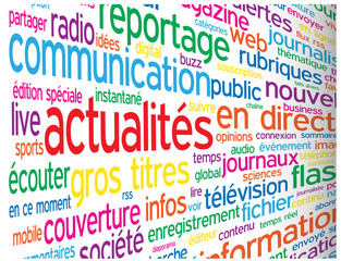"Nuage de Tags ""ACTUALITES"" (blog informations en direct médias)"