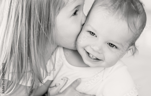 happy little brother and sister © marchibas