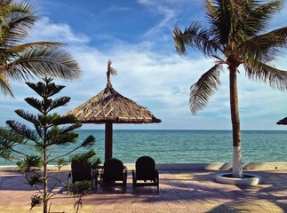 Tropical Resort Beach Vacation, South China Sea, Mui Ne, Vietnam