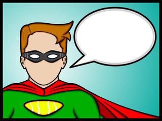 talking superhero