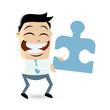 puzzle business mann männchen partnerschaft