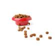 dog food isolated on white background.