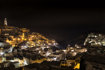 Matera Sassi by night,