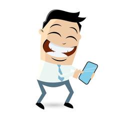 smartphone business mann telefon