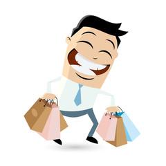 einkaufen shopping business mann