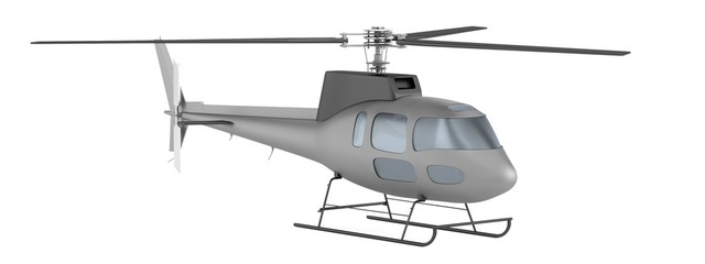 realistic 3d render of helicopter