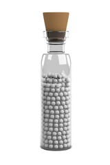 realistic 3d render of homeopathy