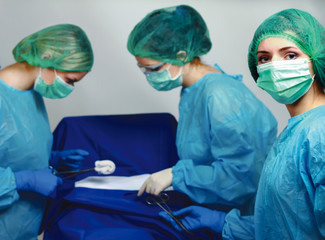 Group of surgeons.