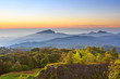 Doi Inthanon National park in the sunrise