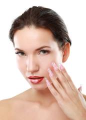 Makeup.Professional Make-up. Lipgloss. Lipstick