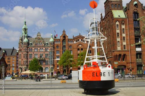canvas print picture Speicherstadt in Hamburg