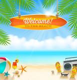 Summer holidays vacation - vector illustration