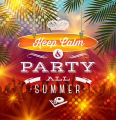 Summer holidays party greeting