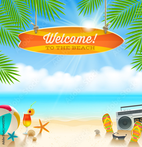 Summer holidays vacation - vector illustration - 64311776