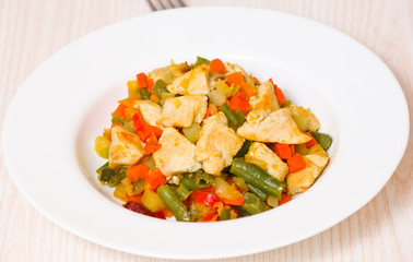 vegetables and chicken breast