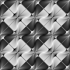 Design seamless striped decorative geometric pattern
