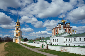 View of Ryazan Kremlin. Ryazan city, Central Russia
