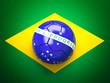 soccer ball brazil flag