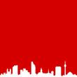 Skyline Düsseldorf rot