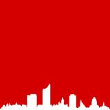 Skyline Leipzig rot