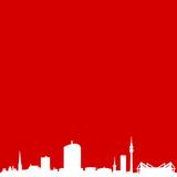Skyline Dortmund rot