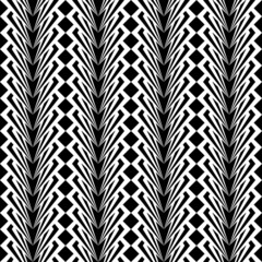 Design seamless monochrome vertical geometric pattern