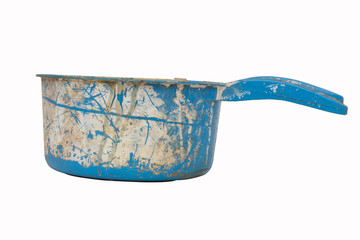 old blue water dipper